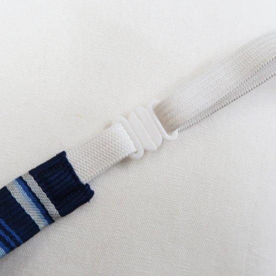 スクール リボン 女子高生 (ネイビー × ブルー & ホワイトストライプ )新柄 全17種類 正規品 JK制服 メール便 送料無料【画像7】