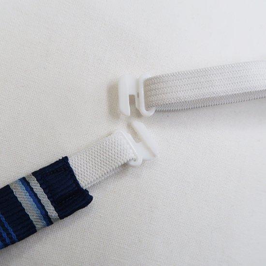スクール リボン 女子高生 (ネイビー × ブルー & ホワイトストライプ )新柄 全17種類 正規品 JK制服 メール便 送料無料【画像8】
