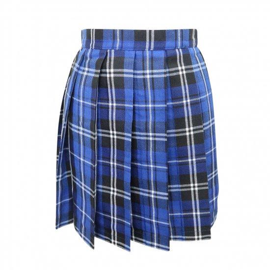 プリーツスカート (ブルーチェック) 全21種類 正規品 JK制服 スクールスカート メール便 送料無料【画像8】