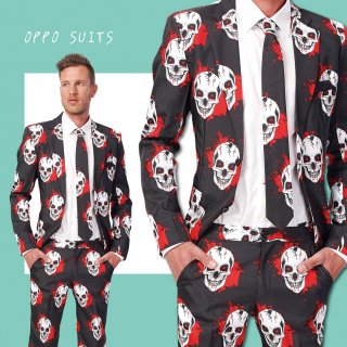 OPPO SUITS パーティスーツ 目立つ 派手 アゲアゲ パリピ 【Skulls Blood】 正規品 パーティー クラブ スーツ 送料無料