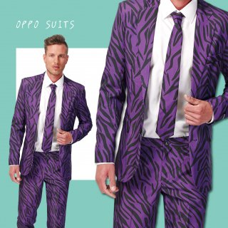 OPPO SUITS パーティスーツ 目立つ 派手 アゲアゲ パリピ 【PIMP TIGER】 正規品 メンズスーツ Sサイズ( 日本サイズS-M相当) 送料無料