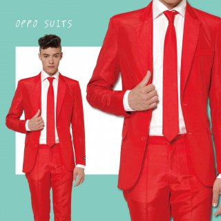 OPPO SUITS パーティスーツ 目立つ 派手 アゲアゲ パリピ 【Solid Red】 正規品 パーティー クラブ スーツ 送料無料
