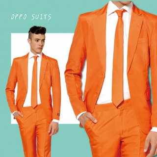 OPPO SUITS パーティスーツ 目立つ 派手 アゲアゲ パリピ 【 Solid Orange 】ワンサイズ  S ( 日本サイズS-M相当 )正規品 クラブ スーツ 送料無料