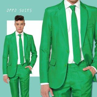 OPPO SUITS パーティスーツ 目立つ 派手 アゲアゲ パリピ 【Solid Green】ワンサイズ  S ( 日本サイズS-M相当 )正規品 クラブ スーツ 送料無料