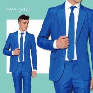 OPPO SUITS パーティスーツ 目立つ 派手 アゲアゲ パリピ 【Solid Blue】ワンサイズ S ( 日本サイズS-M相当 )正規品 クラブ スーツ 送料無料