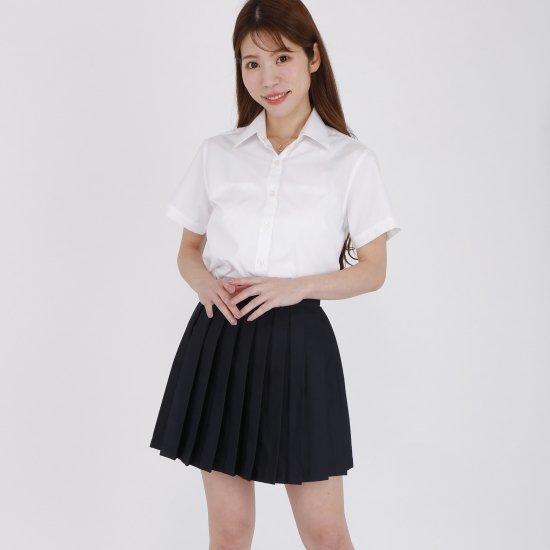 プリーツスカート ( 紺無地 ) NEW 全20種類 正規品 JK制服 スクールスカート メール便 送料無料【画像3】