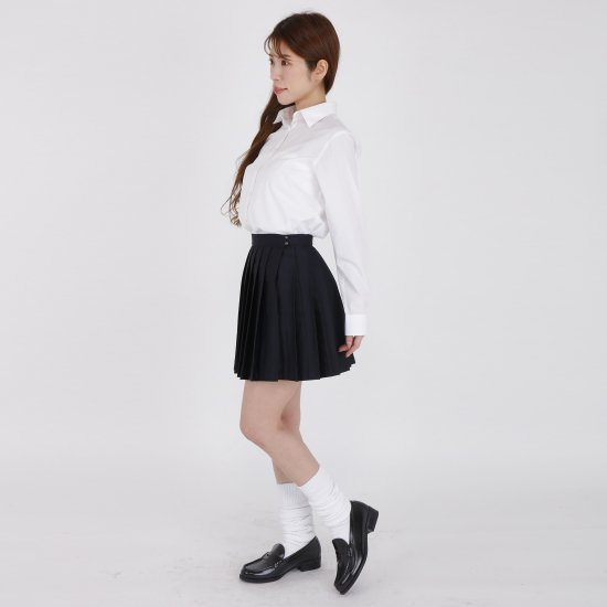 プリーツスカート ( 紺無地 ) NEW 全21種類 正規品 JK制服 スクールスカート メール便 送料無料【画像7】