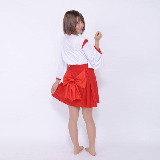 巫女さん コスプレ パジャマ ルームウェア スウェット生地 【画像4】