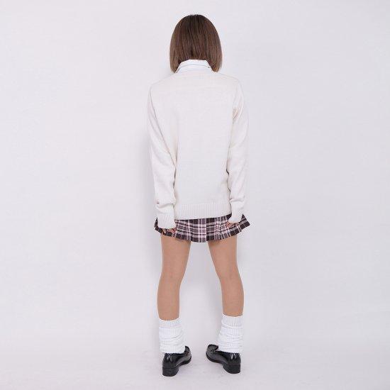 JK 制服 女子高生 Vネック プリーツスカート リボン ブラウス コーデ お得な4点セット 正規品 送料無料【画像4】