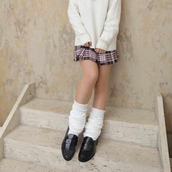 しっかり生地のルーズソックス ホワイト 白 2足セット(100cm)全2種類 正規品 JK制服 メール便 送料無料【画像3】
