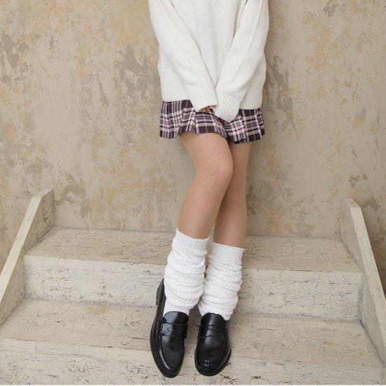 しっかり生地のルーズソックス ホワイト 白 2足セット(100cm)全2種類 正規品 JK制服 メール便 送料無料【画像4】
