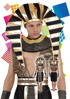 メンズ ハロウィン コスプレ 仮装 ゴールデンキング ファラオ エジプト 王様 コスチューム イベント パーティー フリーサイズ