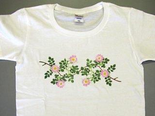 Tシャツ (ピンクのツルバラ/女性用).abc