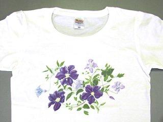 Tシャツ (紫のクレマチス/女性用).abc
