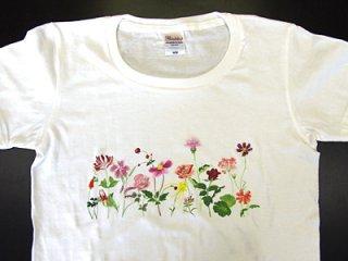 Tシャツ (赤い花/女性用).abc