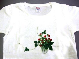 Tシャツ (グラスの野イチゴ/女性用).abc