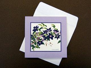 グリーティングカード小(紫のクレマチス).abc