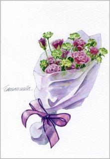 ポストカード「小さなバラの花束」.abc