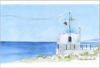 ポストカード「海と礼拝堂」.abc