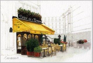 ポストカード「黄色い庇のカフェ」.abc