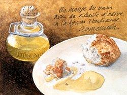 版画 「パンとオリーブ油」.abc