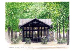 版画 「リュクサンブール公園のティータイム」.abc