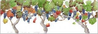 版画 「収穫の日のブドウ」.abc