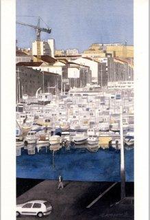 ポストカード「マルセイユ旧港の朝」.abc