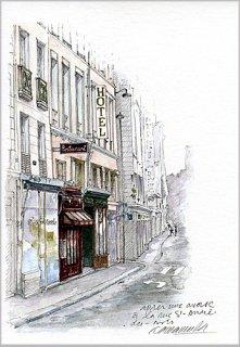 ポストカード「雨上がりのサンタンドレ・デ・ザール」.abc