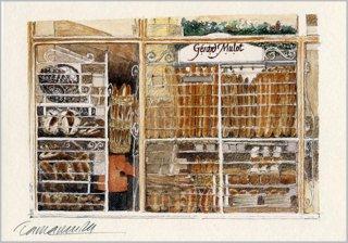 ポストカード「パン屋さんのガラス窓」.abc