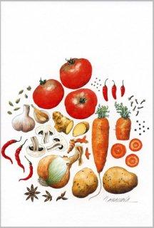 ポストカード「夏野菜とスパイス」.abc