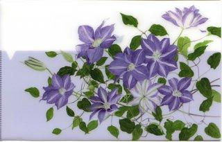 三つ折りフォルダー(薄紫のクレマチス).abc