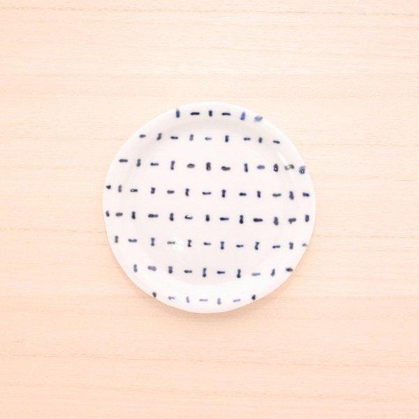 砥部焼・雲石窯 − 手づくり小皿 タテヨコ