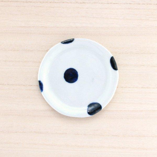 砥部焼・雲石窯 − 手づくり小皿 太丸