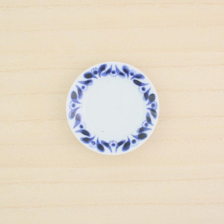 砥部焼・陶房 遊 − 豆々皿 ブルーフラワー[新規格]