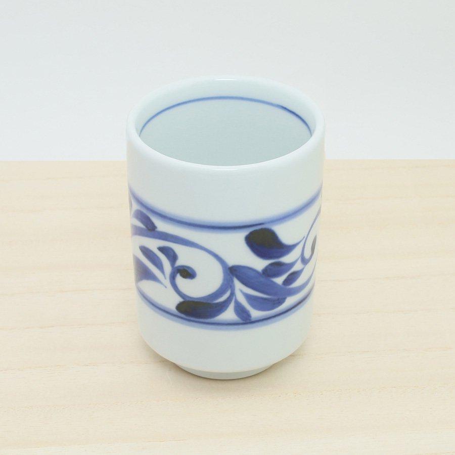 砥部焼・千山窯 − 切立湯呑(大) 唐草