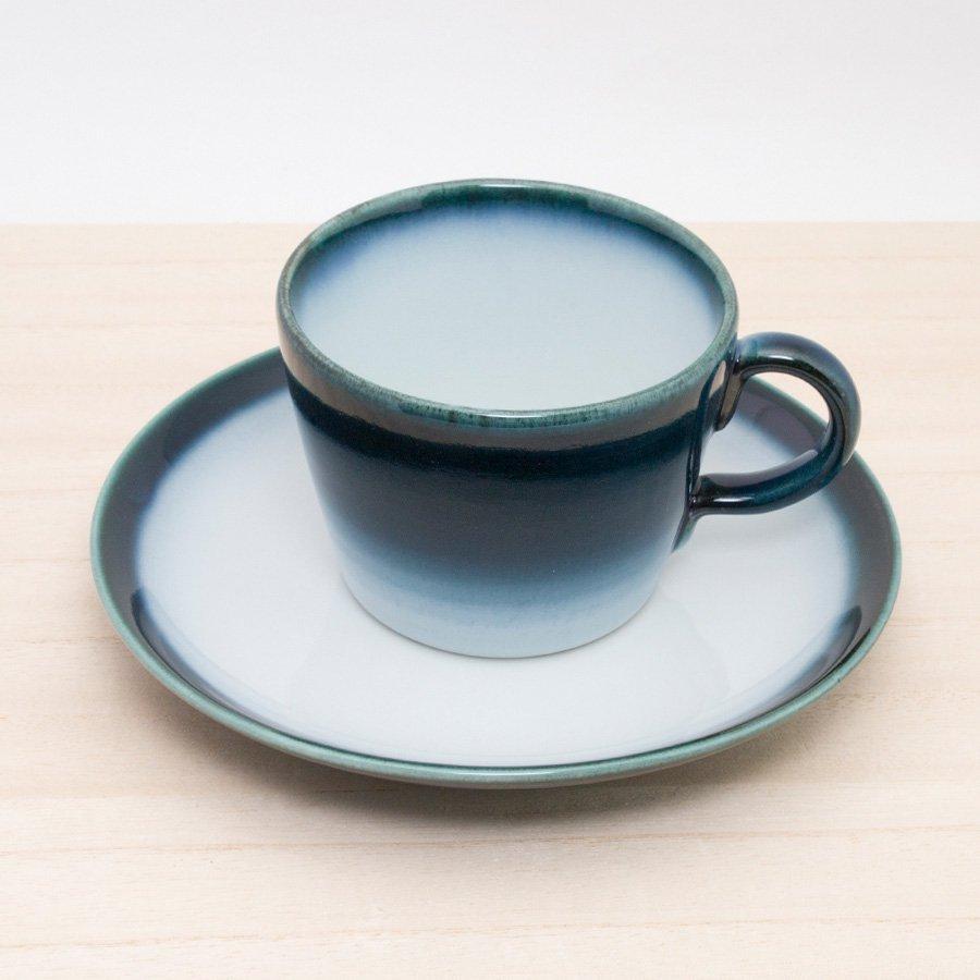 砥部焼・ヨシュア工房 − コーヒーカップ&ソーサー ヨシュアブルー