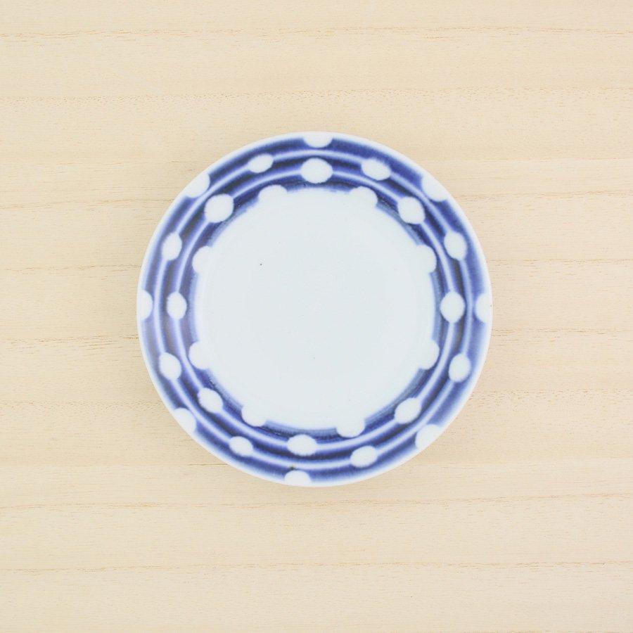 砥部焼・陶房 遊 − 4寸リム皿 白玉[新規格]
