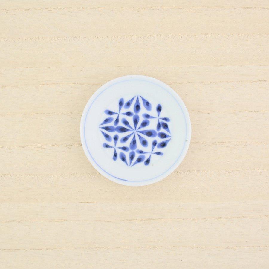 砥部焼・陶房 遊 − 豆々皿 花市松[新規格]