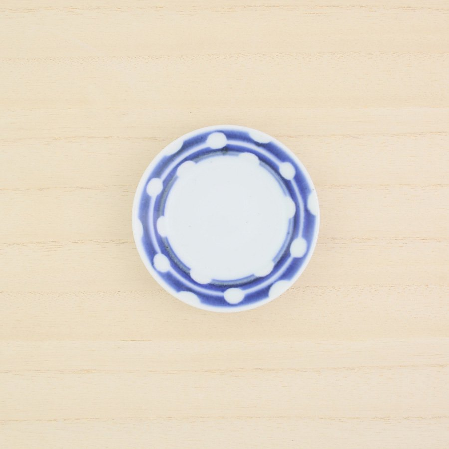 砥部焼・陶房 遊 − 豆々皿 白玉[新規格]