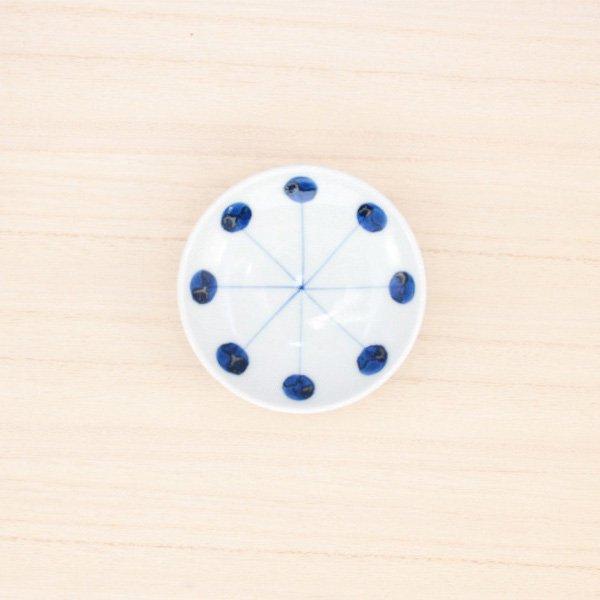 砥部焼・五松園窯 − 豆皿 丸と線