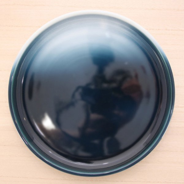 砥部焼・ヨシュア工房 − パスタ皿 内青