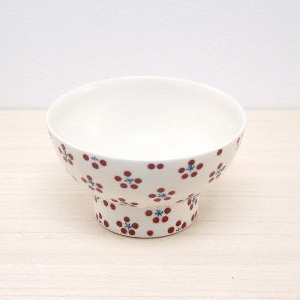 砥部焼・すこし屋 − 茶碗 大 赤小紋