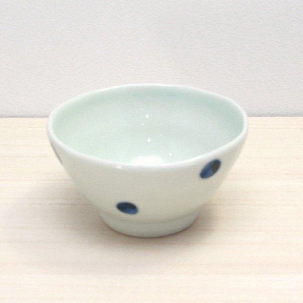 砥部焼・梅乃瀬窯 − 茶碗 点文