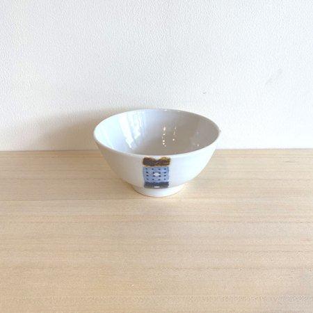 砥部焼・イロリ工房 − 茶碗 オビシカク