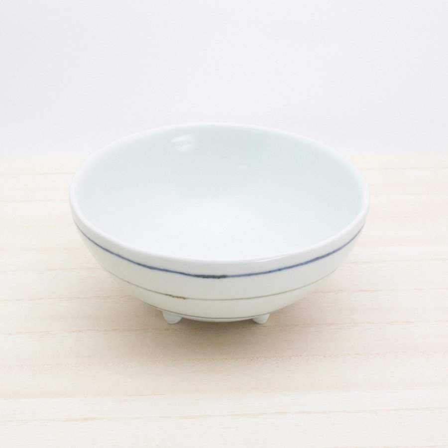 足付コロコロ鉢(大) 象嵌 ボーダー