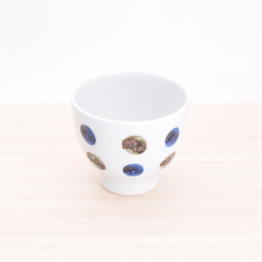 砥部焼・五松園窯 − カップ 鉄水玉