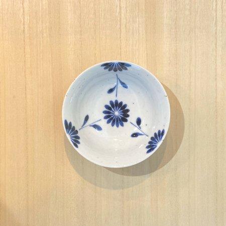 砥部焼・陶房 遊 − 朝顔小鉢 菊つなぎ[新規格]