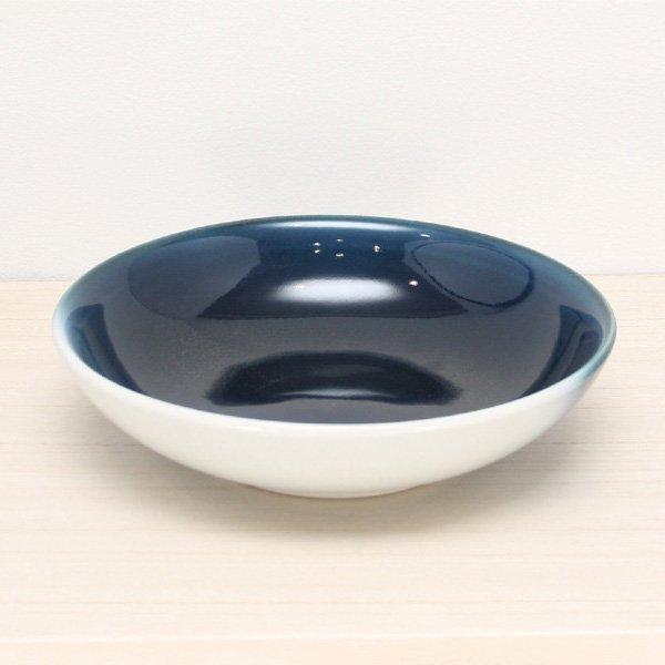 砥部焼・ヨシュア工房 − 平鉢 中 内青