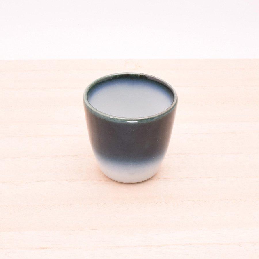 砥部焼・ヨシュア工房 − お猪口 ヨシュアブルー